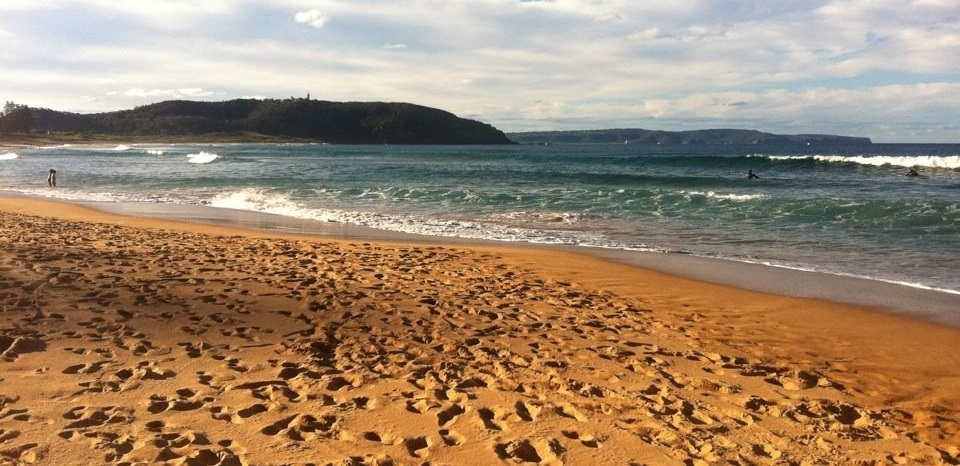 palm beach Sydney Australia with steps in the sand