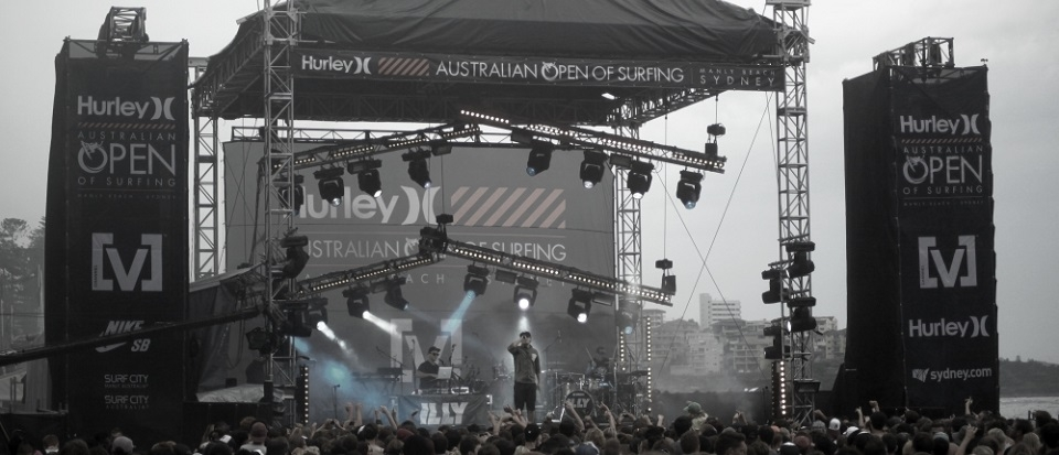 hurley concert stage