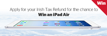 You could win an iPad Air with your PAYE Tax Refund